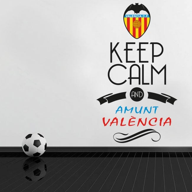 Pegatinas de vinilos fútbol keep calm and amunt valència