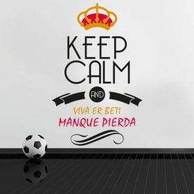 Pegatinas fútbol keep calm and viva er beti manque pierda