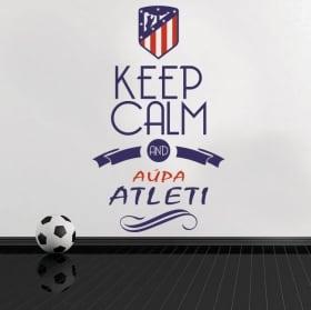 Pegatinas vinilos de fútbol keep calm and aúpa atleti