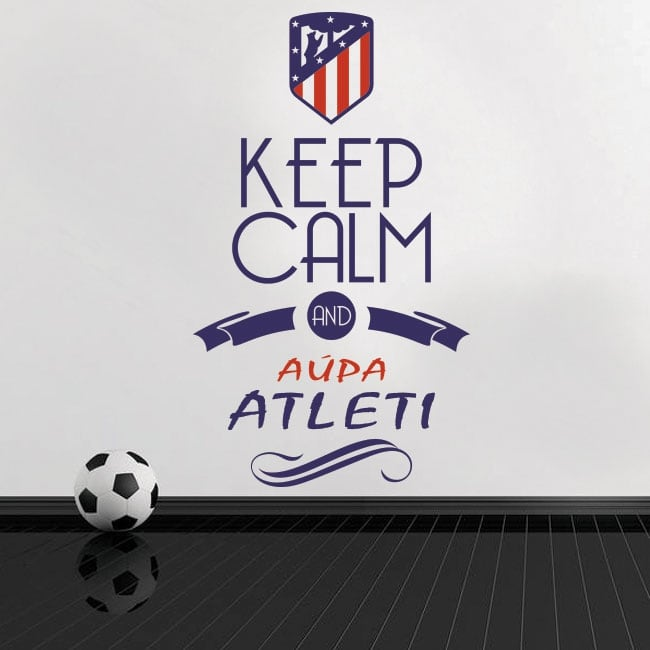 Pegatinas vinilos de fútbol keep calm and aúpa atleti