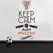 Pegatinas vinilos de fútbol keep calm and aupa athletic