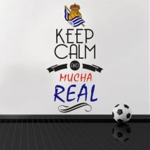 Pegatinas vinilos de fútbol keep calm and mucha real