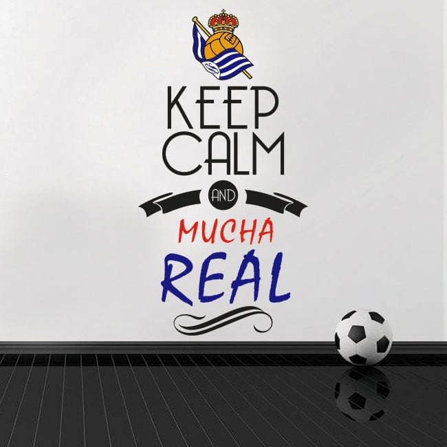 Pegatinas vinilos de fútbol keep calm and mucha real