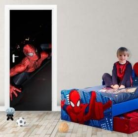 Vinilos decorativos y pegatinas para puertas spiderman