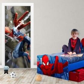 Pegatinas de vinilos para puertas spiderman