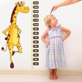 Vinilos y pegatinas medidor estatura jirafa infantil