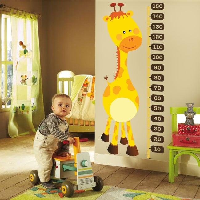 Pegatinas de vinilos medidor estatura jirafa