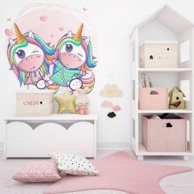 Vinilos decorativos y pegatinas unicornios