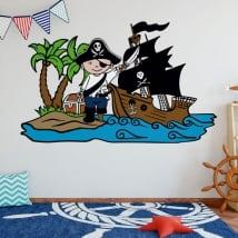 Vinilos infantiles pirata en la isla