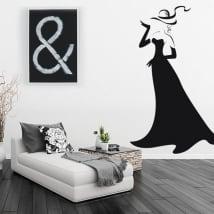 Vinilos decorativos silueta de mujer con glamour