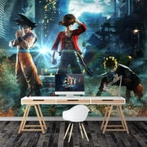 Fotomurales goku naruto y luffy jump force