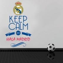 Vinilos de fútbol keep calm and hala madrid