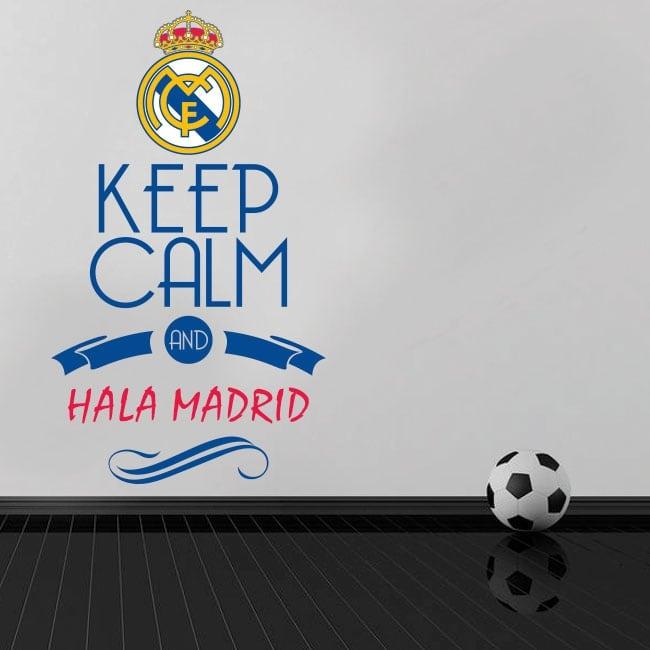 Vinilos de fútbol keep calm and hala madrid