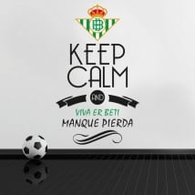 Vinilos de fútbol keep calm and viva er beti manque pierda