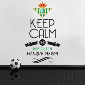 Vinilos de fútbol keep calm and viva er beti manque pierda