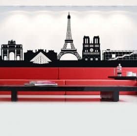 Vinilos y pegatinas skyline francia