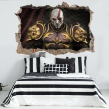 Vinilos y pegatinas 3d kratos god of war throne