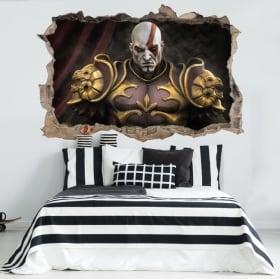 Vinilos y pegatinas 3d kratos god of war throne
