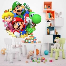 Vinilos decorativos infantiles o juveniles mario party