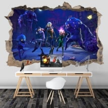 Vinilos de fortnite salvar al mundo zombies 3d