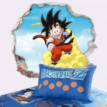 Vinilos decorativos dragon ball son goku 3d