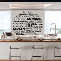 Vinilos y pegatinas cocina en varios idiomas