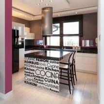 Vinilos decorativos cocina en varios idiomas