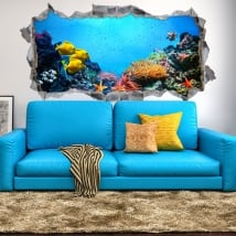Vinilos decorativos y pegatinas 3d mundo marino