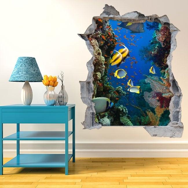 Vinilos 3d mundo marino