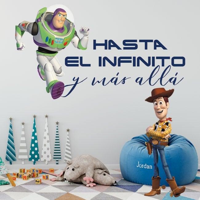 Vinilos Infantiles Toy Story Frase Buzz Lightyear