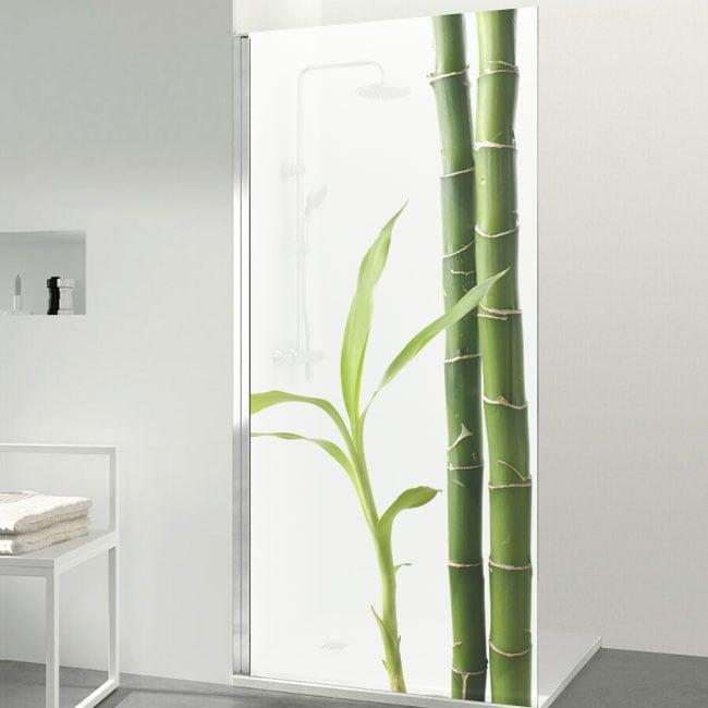 Vinilos para mamparas estilo zen bambú