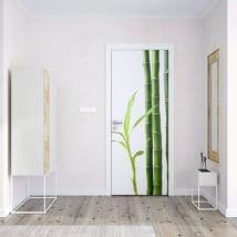 Vinilos para puertas bambú