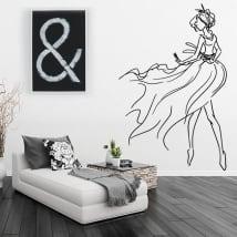 Vinilos decorativos y pegatinas silueta de mujer