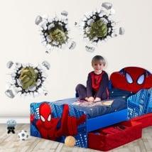 Vinilos infantiles o juveniles 3d marvel hulk