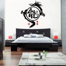 Vinilos decorativos y pegatinas dragón oriental