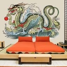 Vinilos y pegatinas dragón oriental