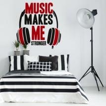 Pegatinas y vinilos decorativos frases música
