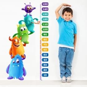 Vinilos y pegatinas infantiles medidor estatura monstruos