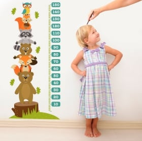 Vinilos y pegatinas animales medidor estatura infantil