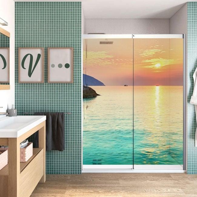 Vinilos mamparas baños amanecer playa côn đào vietnam