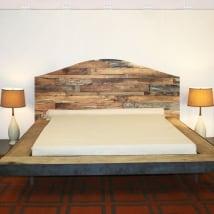 Vinilos y pegatinas cabeceros camas madera rústica