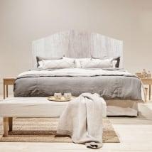 Vinilos y pegatinas cabeceros camas textura madera
