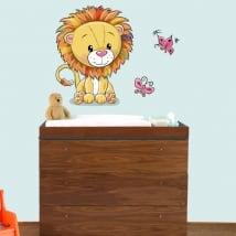 Vinilos infantiles o de bebé león y mariposas