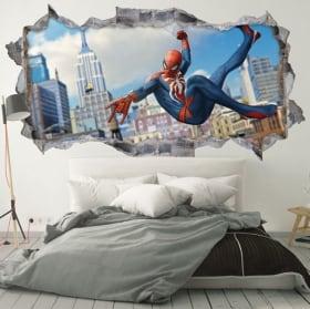 Vinilos de pared 3d spider-man