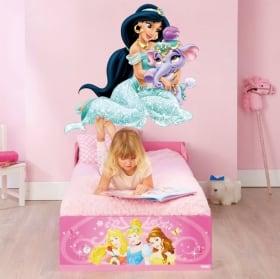 Vinilos infantiles o juveniles princesa jasmín y elefante