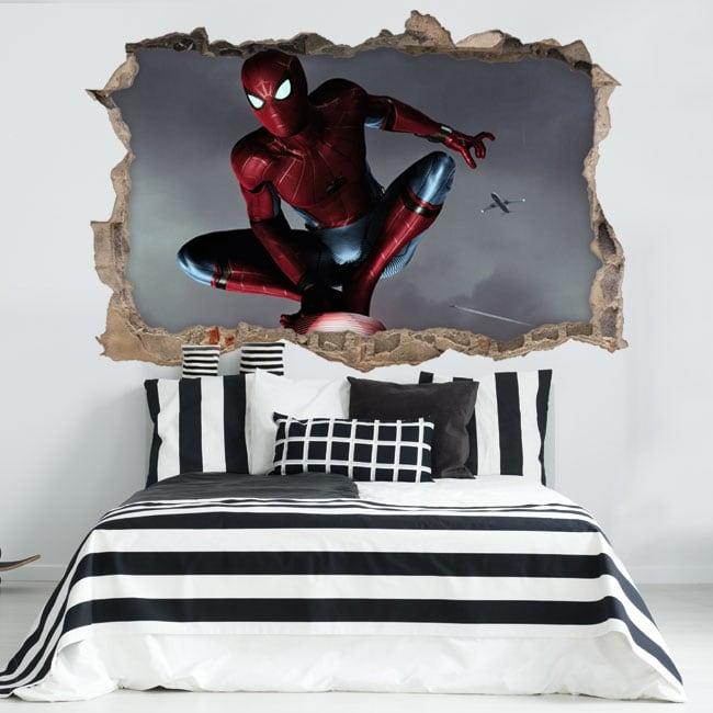 Vinilos decorativos spiderman 3d