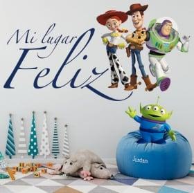 Vinilos infantiles toy story mi lugar feliz