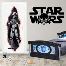 Vinilos para puertas 3d star wars capitán phasma