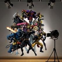Pegatinas y vinilos decorativos superhéroes x-men