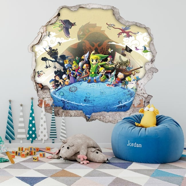 Vinilos decorativos 3d videojuego the legend of zelda